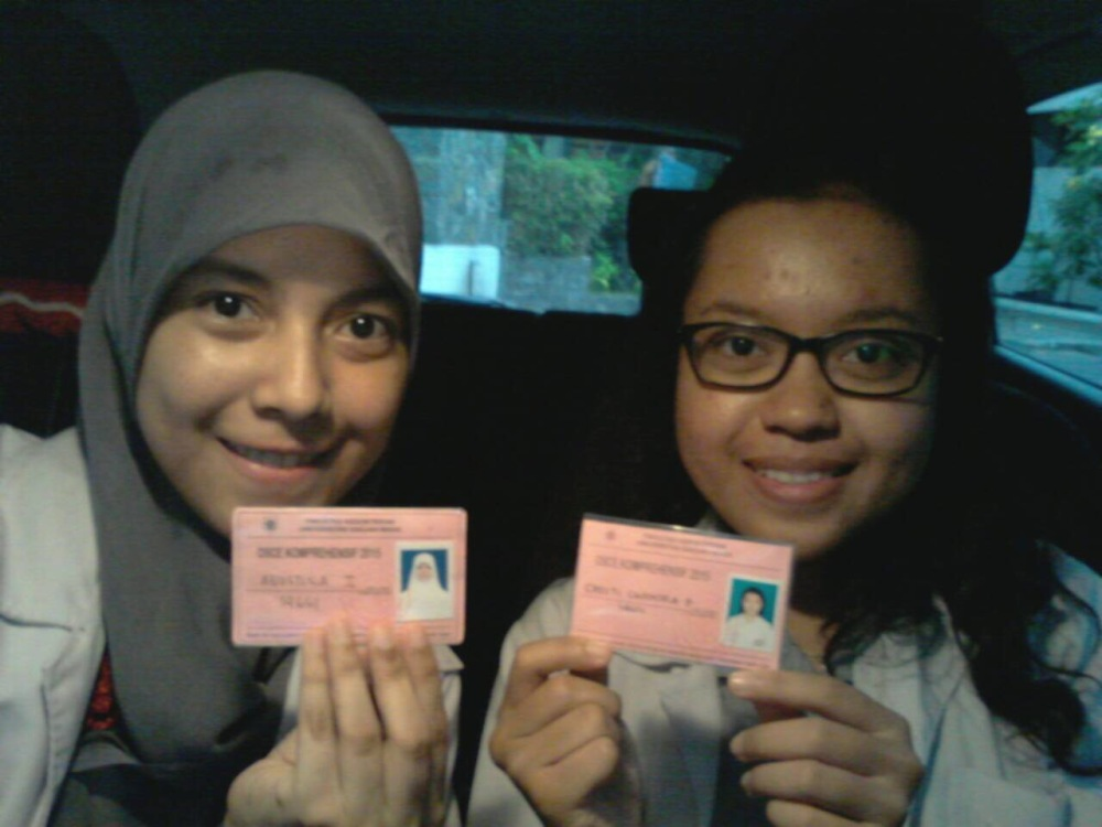 After finishing OSCE Compre, with my very bestfriend, Cresti Chandra :)