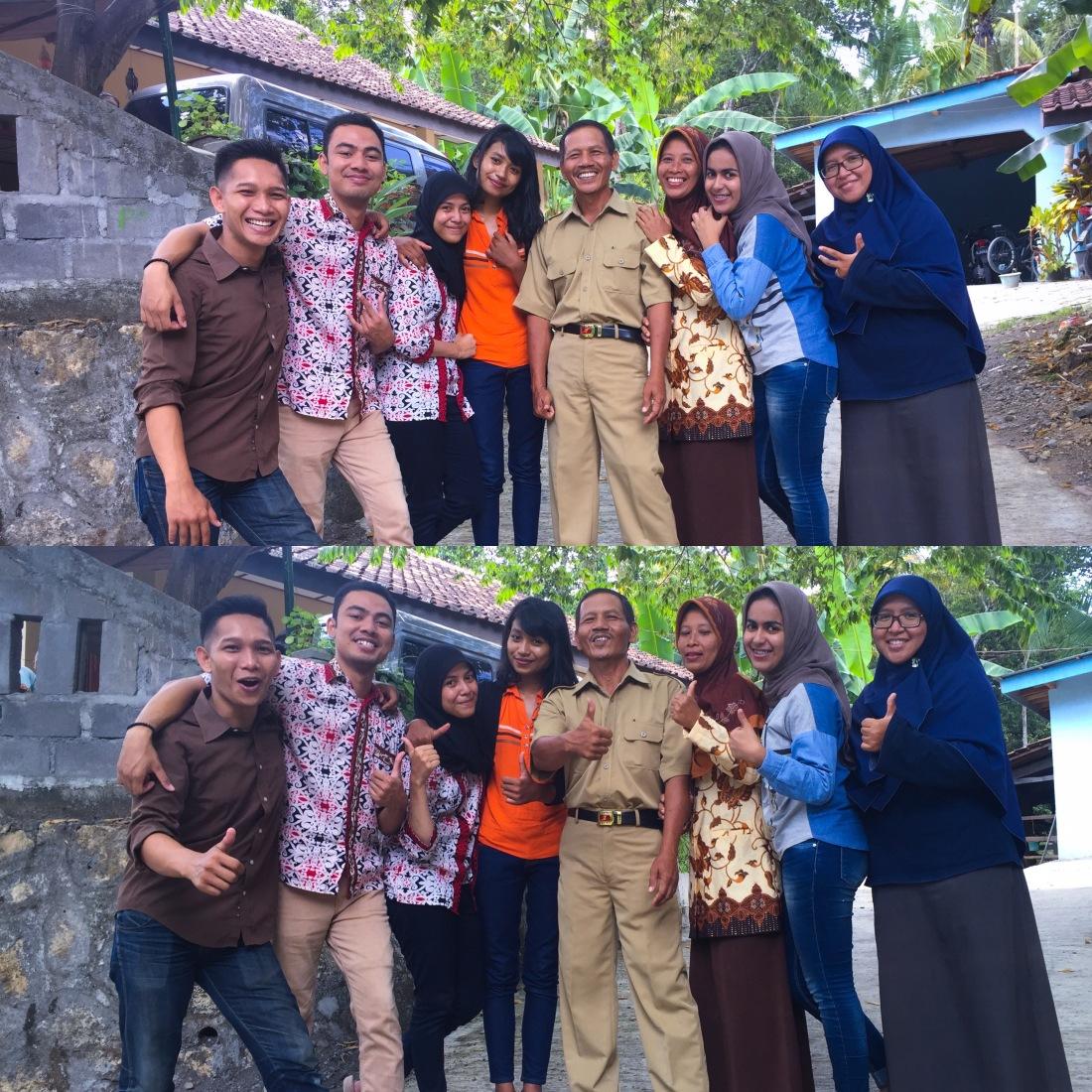 - minus Kamilah dan Dhika - janjian dresscode pakai batik seragam ANGKLUNG. but turned out cuma aku sama Yasfi yang pakai. - tolong jangan salah paham. :)